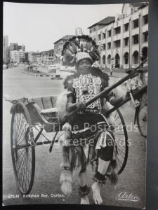 SOUTH AFRICA Ricksha Boy, Durban c1960's RP by Artco PTY Ltd
