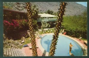 Exclusive Private Tennis Club PALM SPRINGS CALIFORNIA Swimming Pool  Postcard