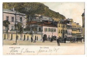 Gibraltar The Library Vintage V B Cumbo Color Postcard