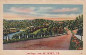 Greetings From St Peter Illinois 1944