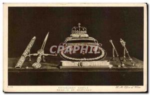 Old Postcard Edinburgh Castle Regalia Jewels Jewels of Scotland
