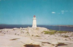 Lighthouse, Peggy's Cove, An Artists' Paradise In Beautiful Nova Scotia, Cana...
