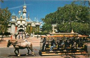 Disneyland Sleeping Beauty Castle a horse-drawn streetcar postcard