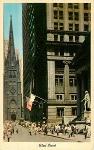 Postcard Wall Street, New York City, NY