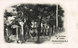 An Avenue of Tents, Ocean Grove, New Jersey,  1898 Private Mailing Card, Unused