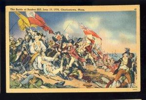 Charlestown, Massachusetts/MA Postcard, The Battle Of Bunker Hill, 1946!