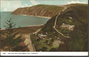Vintage Postcard THE TORS & COUNTISBURY HILL, LYNMOUTH by Harvey Barton 24056