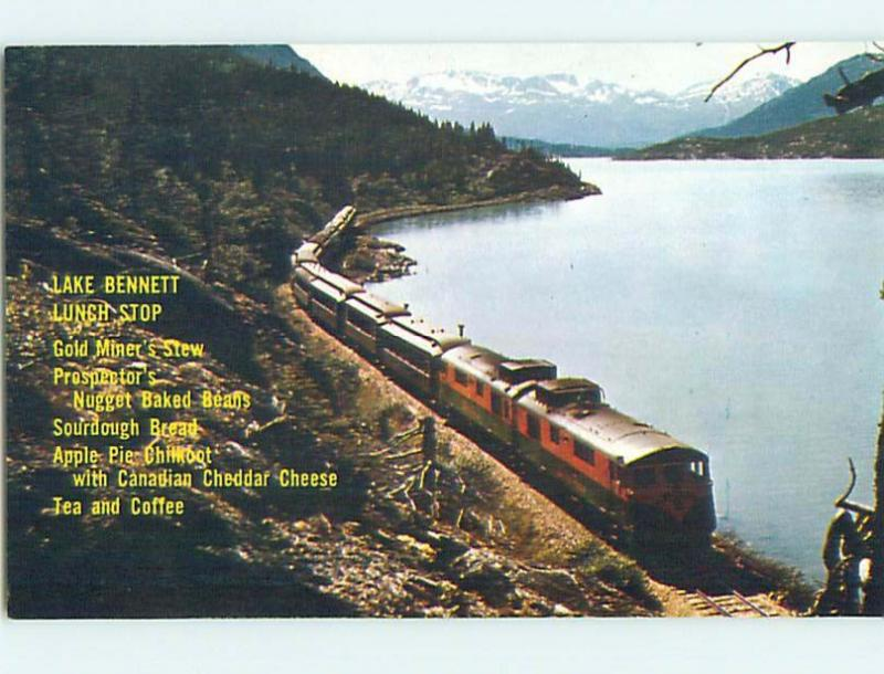 Pre-1980 LAKE BENNETT LUNCH STOP ON YUKON RAILWAY Watson & Carcross YT hn3411-24