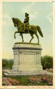 MA - Boston. Public Garden, Washington Statue