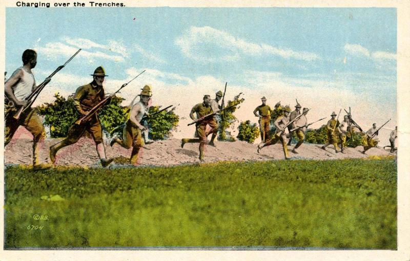 U S Army - Charging Over The Trenches