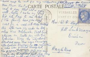 Versailles French 1939 WW2 2x Stamp Envelopes & War Outbreak Postcard