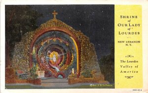 Shrine of Our Lady of Lourdes New Lebanon, New York Postcard