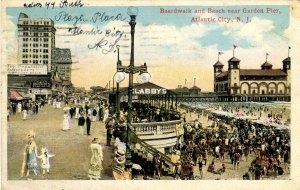 NJ - Atlantic City. Boardwalk, Beach