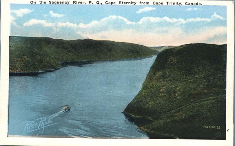 Cape Eternity on Saguenay River from Cape Trinity QC, Quebec, Canada - WB