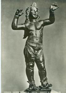 Italy, FIRENZE, Museo Nazionale, AMORE, Bronzo di Donatello, unused RP Postcard