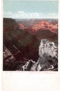 Down the Canyon from El Tovar, Grand Canyon of Arizona, pre-1907