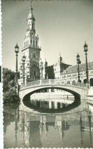 Spain, Sevilla, Plaza de Espana, unused Postcard