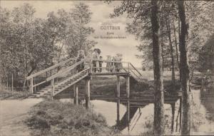 Cottbus Bank mit Spreewalderinnen Germany