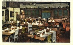 Danish Tea Room, Eastland Hotel in Portland, Maine