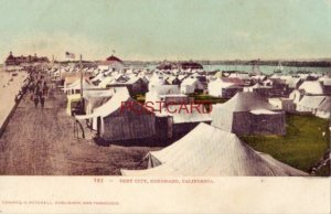 pre-1907 TENT CITY, CORONADO, CALIFORNIA