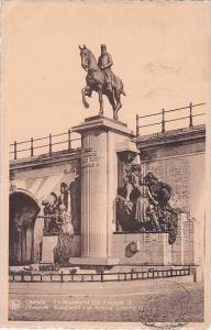 Belgium Ostende Le Monument Roi Leopold II 1930