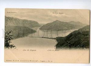 247694 ITALY Lac de LUGANO Monte Generoso Vintage postcard