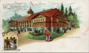 Forestry Building Lewis & Clark Exposition Portland Oregon OR 1905 Postcard E51