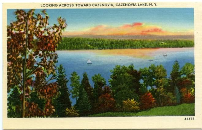 Looking Across Cazenovia Lake NY, New York Linen