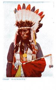 Chief Blackhawk, Undivided Back, pre-1907