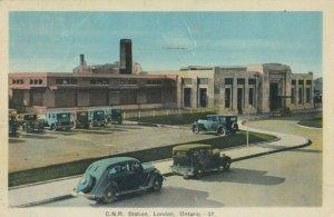 LONDON , Ontario , Canada , 1940 ; C.N. Railroad Train Station