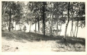 Brainerd Minnesota~Lake Margaret @ Inwood Lodge~Boat Dock~1950s Colburn RPPC