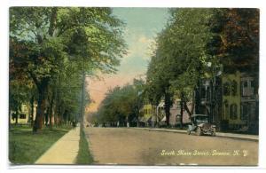 South Main Street Geneva New York 1914 postcard