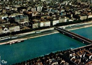 France Lyon Vue Aerienne Le Rhone Pont Wilson