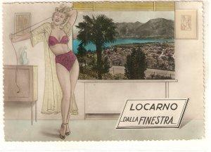 Pin-Up Girl. . Locarno dalla Finestra  Nice  modern Swiss PC. Continental size