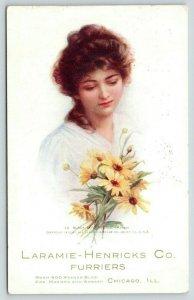 Chicago Illinois~Laramie-Henricks Co Furriers~Kesner Bldg~Zula Kenyon Lady~1911