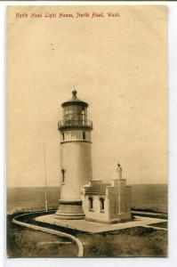 North Head Lighthouse Light House Washington 1909 postcard