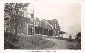 LPS77 Lakeside New Hampshire Lakeside House Postcard RPPC