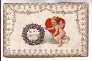 Cupid with Arrow, Heary and Wearth, Valentine, G Printed in Germany