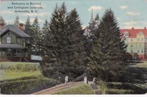 ASHEVILLE, North Carolina, PU-1912; Entrance to Normal & Collegiate Institute