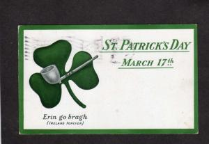 St Patrick's Day Patricks March 17th Ireland Forever Irish Postcard  Pipe RFG