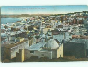 c1910 CAPTION TOWN & TOMB OF SAINT Published Tanger Tangier Tanja Morocco i4782