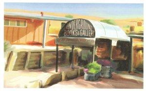 Underground Books & Art Gallery Coober Pedy Australia Shop Postcard