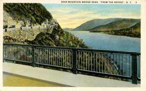 NY - Bear Mountain. Bridge Road from the Bridge