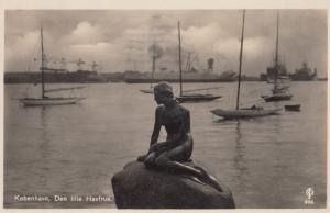 Kobenhavn Den Lillie Havrue Denmark Guardian Message Old Postcard