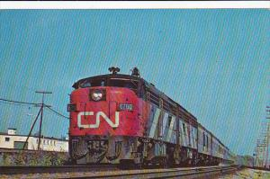 Canadian National Railroad No 6760 Alco Locomotive at Dorval Quebec