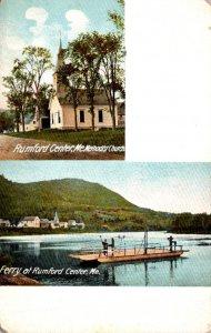 Maine Rumford Ferry and Methodist Church