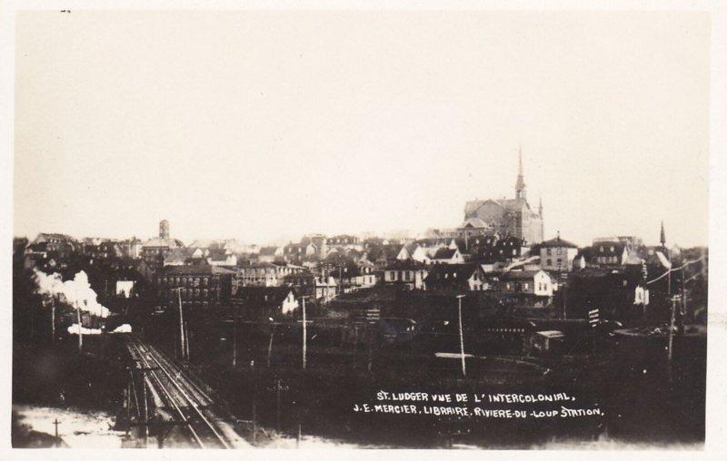 RP: St Ludger , Quebec Vue de la Intercolonial Railway Station, Canada , 00-10s