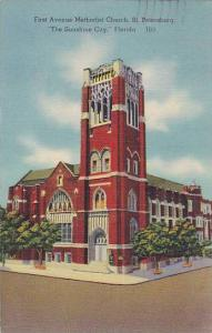 First Avenue Methodist Church, St. Petersburg, The Sunshine City, Florida, ...