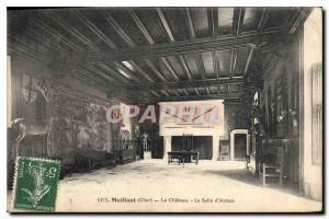Old Postcard Meillant Cher Chateau Salle d'Armes