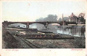 NOTTINGHAM UK TRENT BRIDGE POSTCARD 1900s